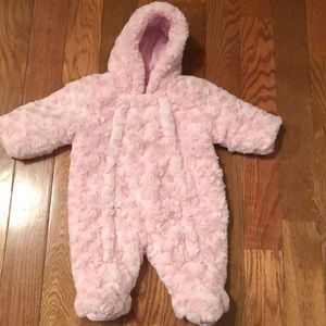 Baby faux fur jumpsuit for baby girl very soft
